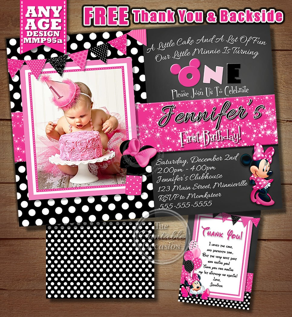 Minnie mouse party – Minnie Invitations for Birthdays