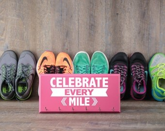 Running medal holder - running medals - medals for runners - running medal hanger - celebrate every mile