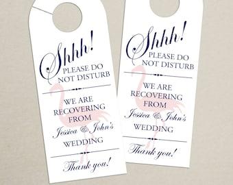 Set of 10 - Flamingo Door Hanger for Wedding Hotel Welcome Bag - Do Not Disturb - Destination Wedding - Beach, Island, Tropical