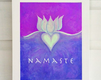 Namaste Wall Art - Yoga Art Print - Yoga Wall Art - Meditation Wall Art - Meditation Art Print - Namaste Art Print