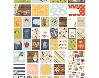 Simple Stories Bloom & Grow SN@P! Pack, Includes Double-Sided Cards and Bits and Pieces