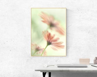 Home Interior Picture, Romantic Bedroom Wall Decor Print, Teen Girl's Room Decor, Flower Wall Photography, New Home Gift, Blush Wall Art