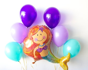 Mermaid Balloons, Mermaid Birthday, Under the Sea Party Decorations, Mermaid Theme, Mermaid Decor, Party Decorations, Mermaid Birthday