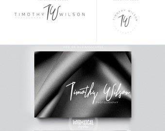 siganture artisitc logo initials businesscards simple modern male female branding logo Identity for artist makeup and wedding photographer