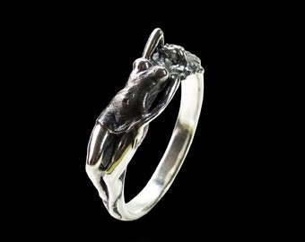 Erotic Nudity Ring, Erotic Ring, Naked Woman Ring, Sterling Silver Ring, Ring Silver, Unique Design Ring, Erotic Jewelry, Unisex Ring