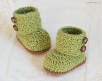 CROCHET PATTERN - Cashmere Avocado Baby Booties