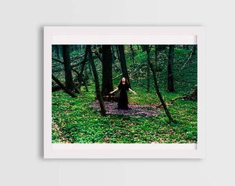 goddess of nature, surreal photography, photos of witches, fine art photo, woman portrait photography, canvas photo prints, wall art decor