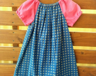 Girls Peasant Style Dress. Size 4.