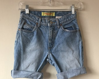 Vintage 90s High Waisted Cut Off Denim Shorts Size 0