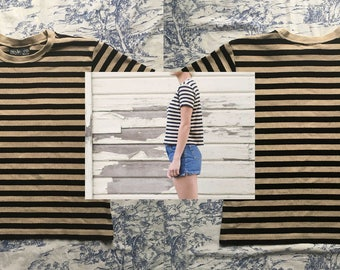 Striped Style & Co Boxy 90's Tee