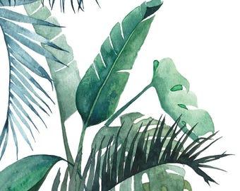 Postcard Botanical #01, Illustrated Postcard, Watercolor