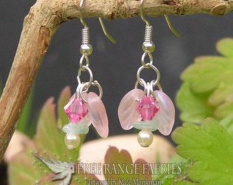 Jade Flower Gemstone Earrings