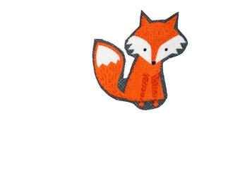 Fox Iron On Fabric Transfer Applique - 861