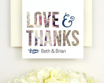 Wedding Thank You Cards Photo - Wedding Thank You Card - Photo Wedding Thank You Card - Printed Wedding Thank You Cards - 4.25x5.5 Thank You