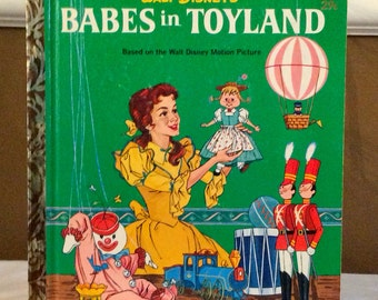 1961 WALT DISNEY'S Babes in Toyland Vintage Little Golden Book