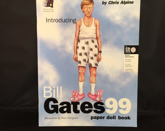 BILL GATES Paper Doll Book