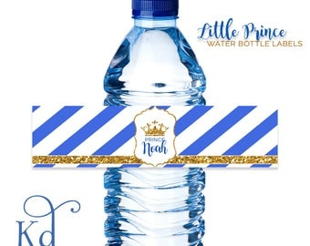A Little Prince Baby Shower - Water Bottle Label - Printable
