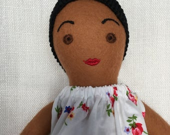 Handmade Cloth Doll, one-of-a-kind: Julietta