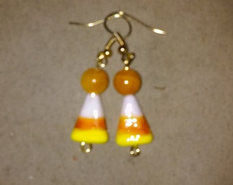 Candy Corn Earrings, Style #3