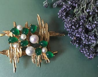 1960s Carven Brooch / gripoix style brooch / Carven collectable broach