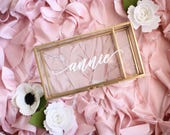 Personalized Glass Box Personalized Jewelry Box / Bridesmaid Gift / Personalized Gift / Maid of Honor baby keepsake box Birthday