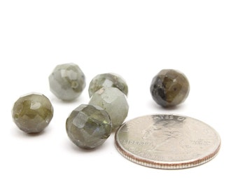 Genuine Faceted Labradorite Beads Wholesale Beads 10mm 6pcs