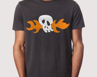 Fire Skull  - T-Shirt