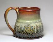coffee mug, 14oz wide bottom stoneware pottery mug