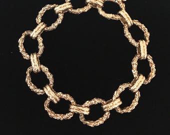 1960's Heavy Gold Oval Link Bracelet