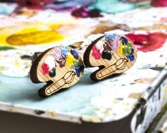 Artists colour palette studs