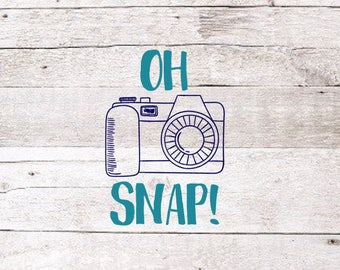 Oh Snap Decal | Camera Decal | Photography Decal | Photographer Decal | Car Decal