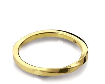 Mobius Ring - 18k Gold Ring , Wedding Ring , Gold Wedding Ring , Wedding Band, Twisted wedding band, promise ring, 1