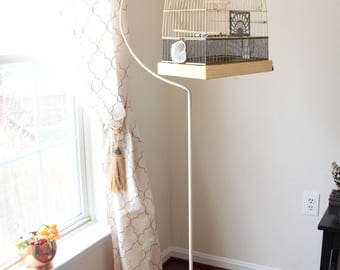 Arched Crown Metal Bird Cage with Stand, Art Deco Bird Cage, Bird House, Aviary, Urban Farmhouse, Wedding Bird Cage, Domed Wire Birdcage