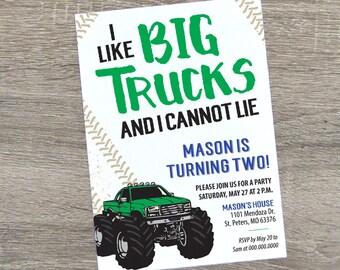 Monster Truck Birthday Invitation | Monster Truck Party Invite