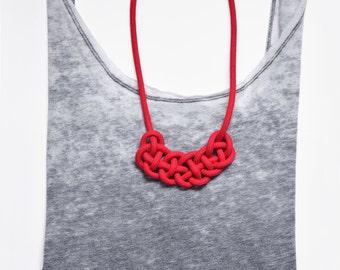 Statement chain node mini-Tavira / knotted statement necklace mini-Tavira