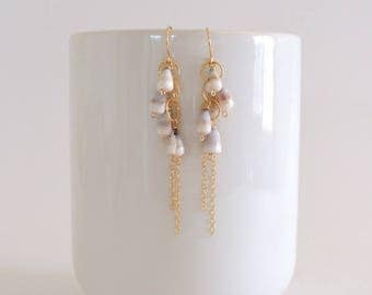 Hawaiian Cone Shell Earrings, Gold Filled