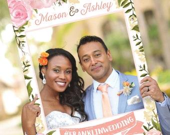 Bridal Shower Photo Prop - Pink Floral - DIGITAL FILE - Wedding Photo Prop - Baby Shower Photo Prop - Printed Option Available - Bridal
