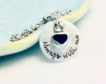Cremation Urn Pendant Necklace ~ Always with me ~ Custom Pet Loss Remembrance Memorial Necklace ~ Bereavement Gift ~ Silver Urn Jewelry