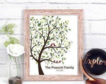 Family Tree Wall Art, Personalized Family Tree Art Print, Modern Family Tree Print, Family Tree Art Sign, Family Tree Wall Decor