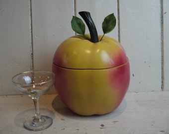 Vintage Apple Ice Bucket - 1970s Kitsch