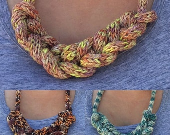 Knitted Necklace - The perfect knitter's accessory!