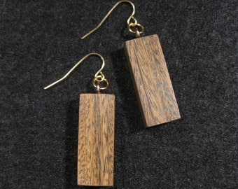 Lignum Vitae Earrings