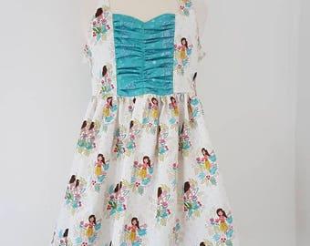 Hawaiian dress, Island girl, halter neck dress, tropical, girls clothing, UK seller