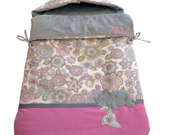 Sakura Angel's Nest - Baby sleeping bag - Sleep sack - Baby blanket - Swaddle - Pink baby bedding -Made in Austin, TX, USA