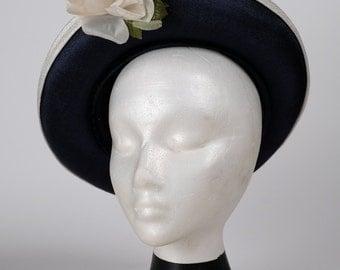 Vintage Garden Hat with Ribbon Flower