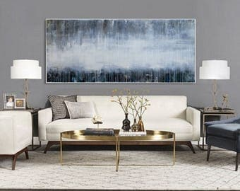 """78"""" x 34"""" Oversized ABSTRACT PAINTING,ORIGINAL, Landscape, Large painting, Acrylic on canvas"""
