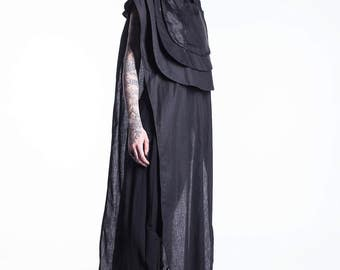 New Summer Top, Black Cotton Shirt, Black Maxi Top, Maxi Black Tunic, Over Sized Tunic, Women's Black Blouse, Black Loose Top, Black Top