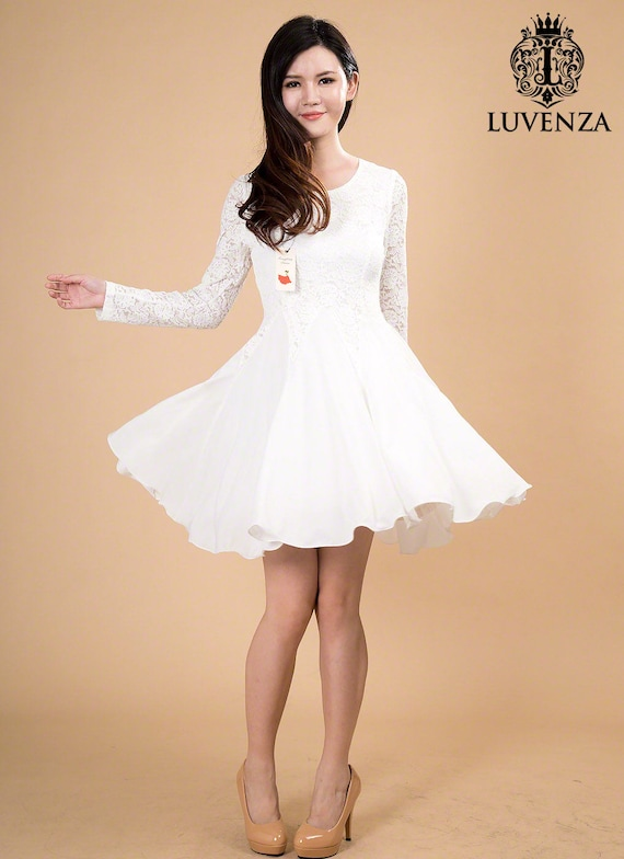 White fit and flare dresses