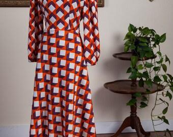 Midi Dress / Midi Dress with Sleeves / Midi Dresses for Women / Midi Dress Long Sleeve / Office Dress / Print Midi Dress