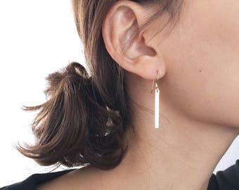 Long Bar Earrings / 14K Gold filed Earrings